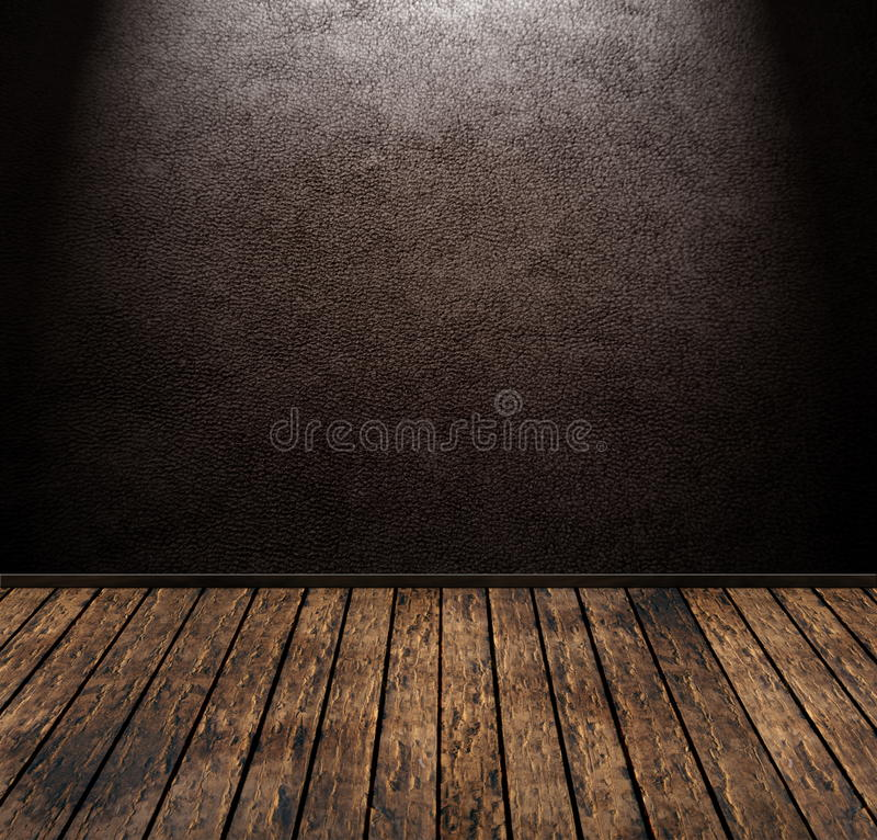 leather room vector illustration
