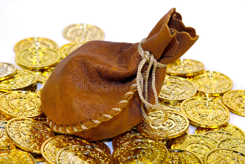Leather Sack stock images