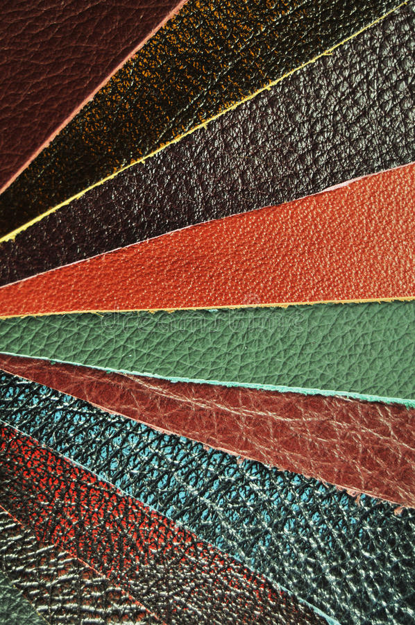 Leather samples royalty free stock photos