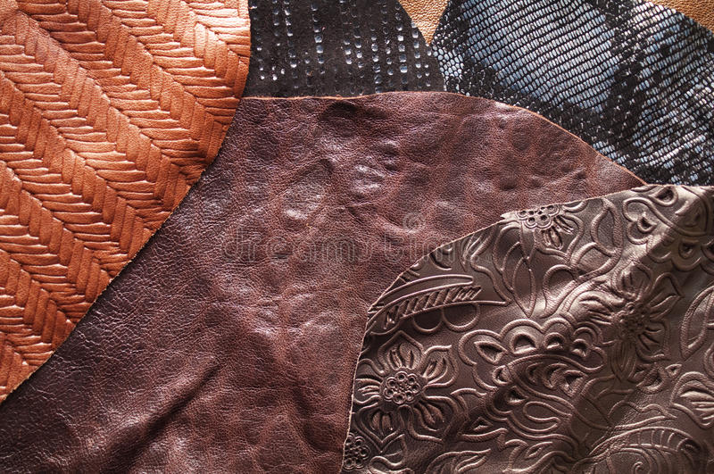 Download Leather samples stock image. Image of surface, animal - 19116539