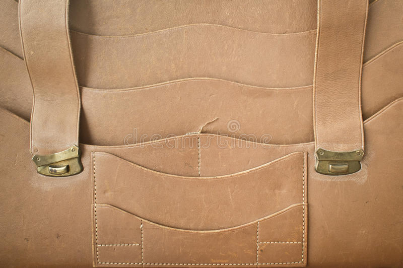 Leather satchel stock photography