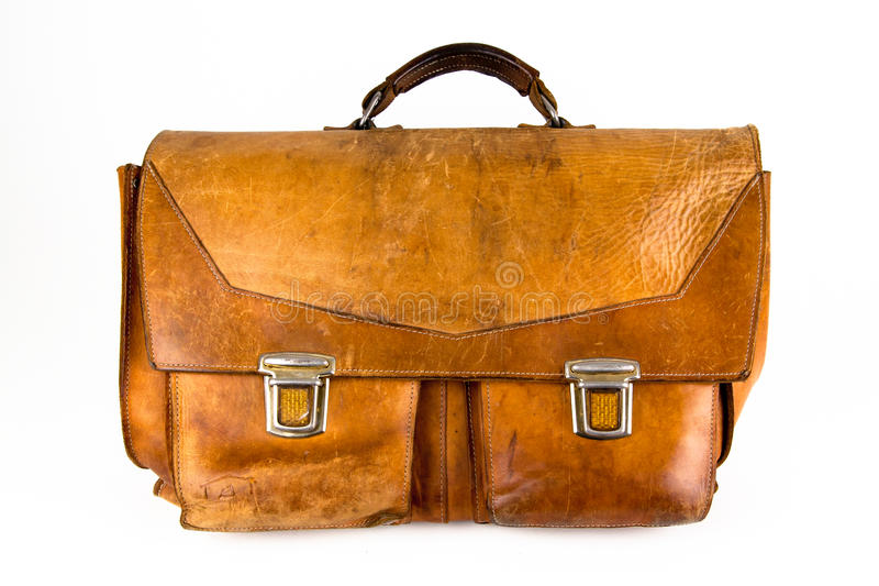 Leather satchel royalty free stock image