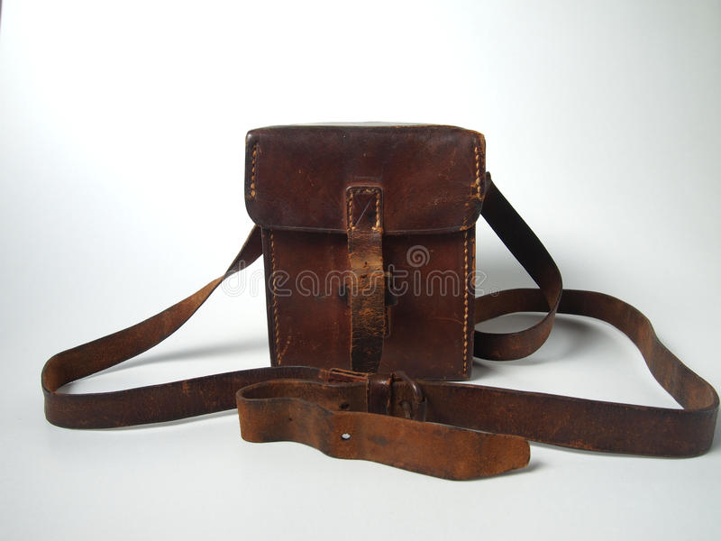 Leather satchel royalty free stock images