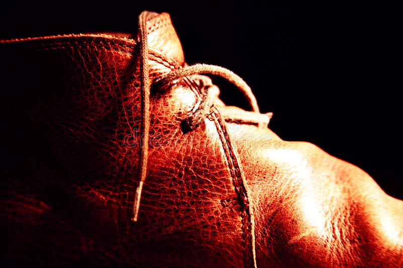 Download Leather Shoe Detail stock photo. Image of cross, shoe - 30068508