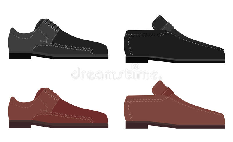 Download Leather shoes stock vector. Image of colored, leather - 10509900