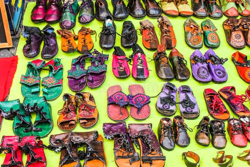 Leather Shoes Female Illustration Object. Fashion Sandals Isolated Icons Beautiful royalty free stock image