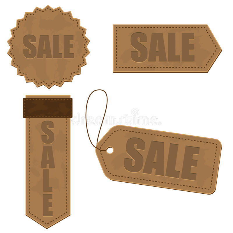 Leather Sign Tags Stock Image