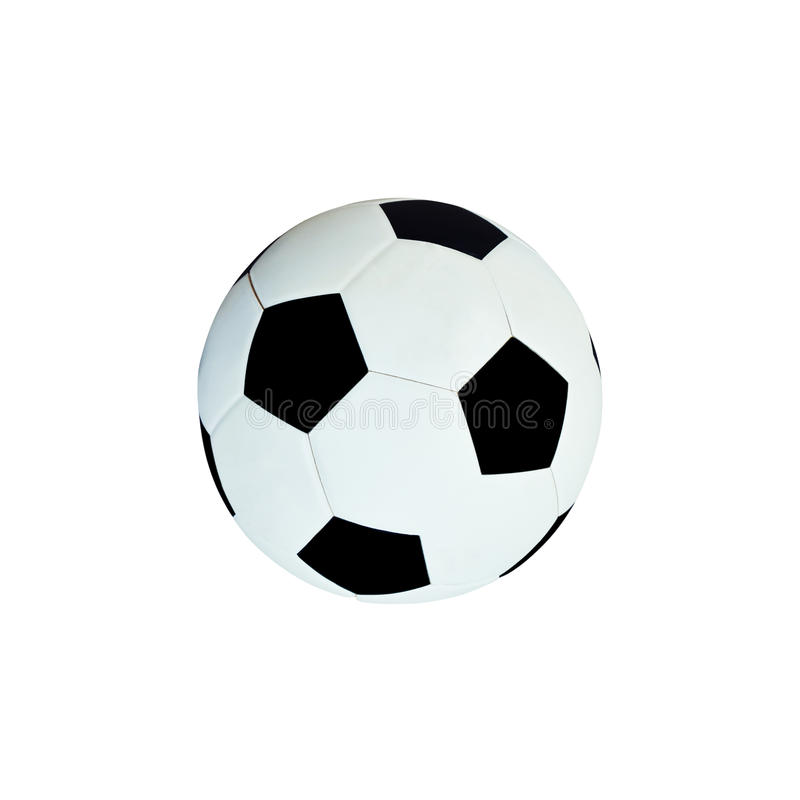 Leather soccer ball isolated on white