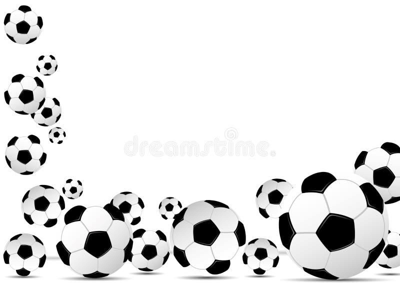 Leather soccer balls on white background. Leather soccer balls on white background with space for text stock illustration