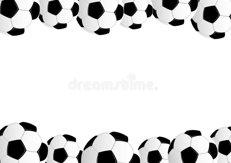 Leather soccer balls on white background. Leather soccer balls on white background with space for text royalty free illustration