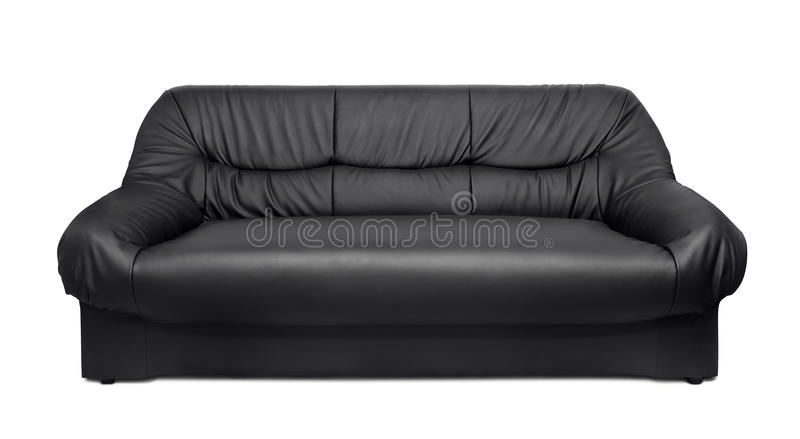 Leather sofa stock images