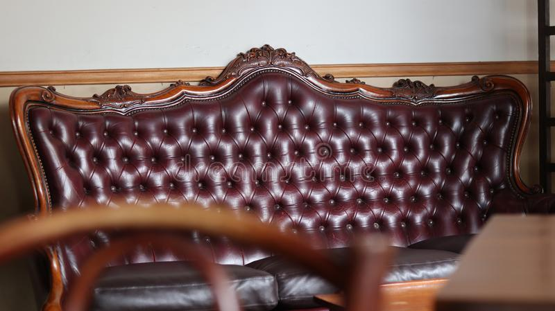 Leather sofa A good home decor. Leather sofa A good home decor Most people buy it stock images