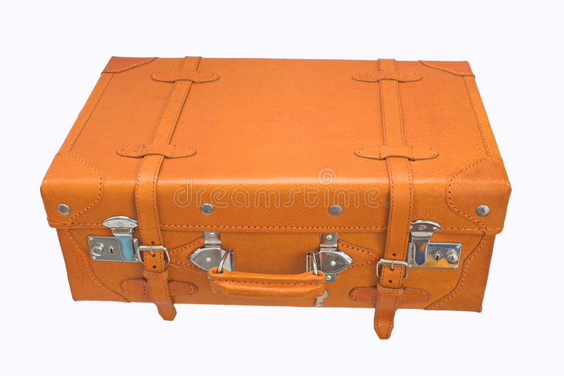 Leather Suitcase Stock Photos