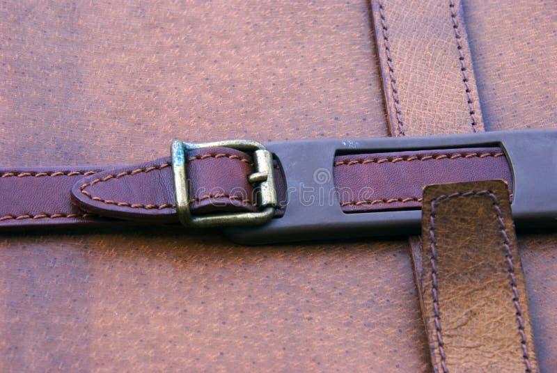 Leather suitcase royalty free stock photo