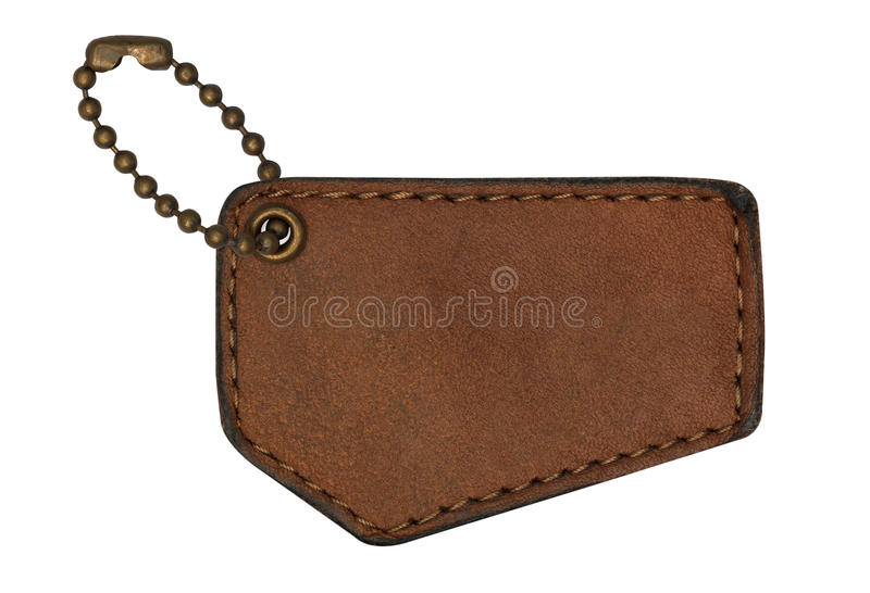 Download Leather tags stock photo. Image of brown, mark, piece - 33558760