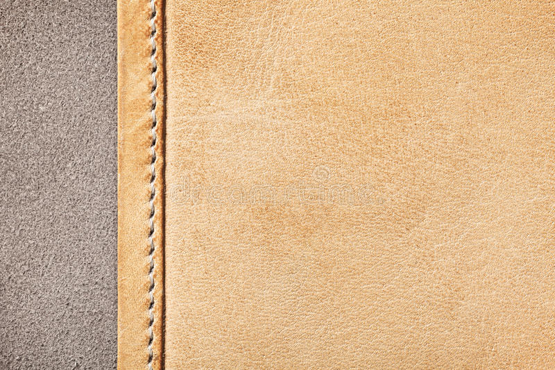 Leather Texture. Brown leather texture for background. Macro shot, top view stock photography