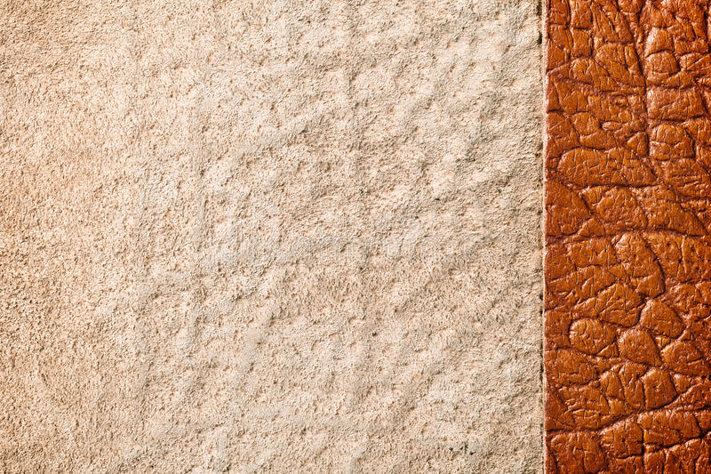 Leather Texture. Brown leather background. Close up, top view stock photos
