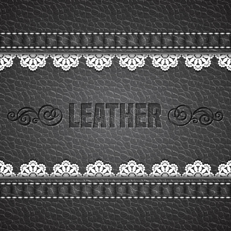 Leather texture background. Realistic leather. Vector illustration stock illustration