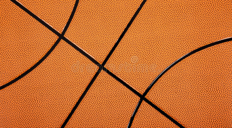Leather Textured Basketball Background Stock Photography