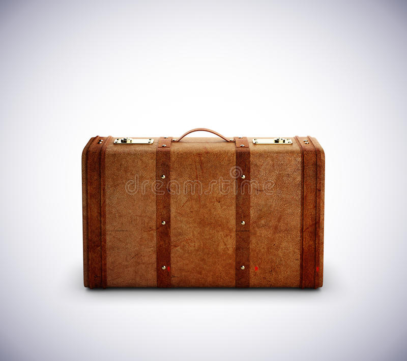Leather travel bag royalty free stock photography