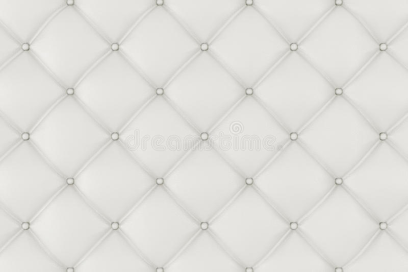 Leather Upholstery Sofa Background. White Luxury Decoration Sofa. Elegant White Leather Texture With Buttons For Pattern. And Background. Leather Texture for stock illustration