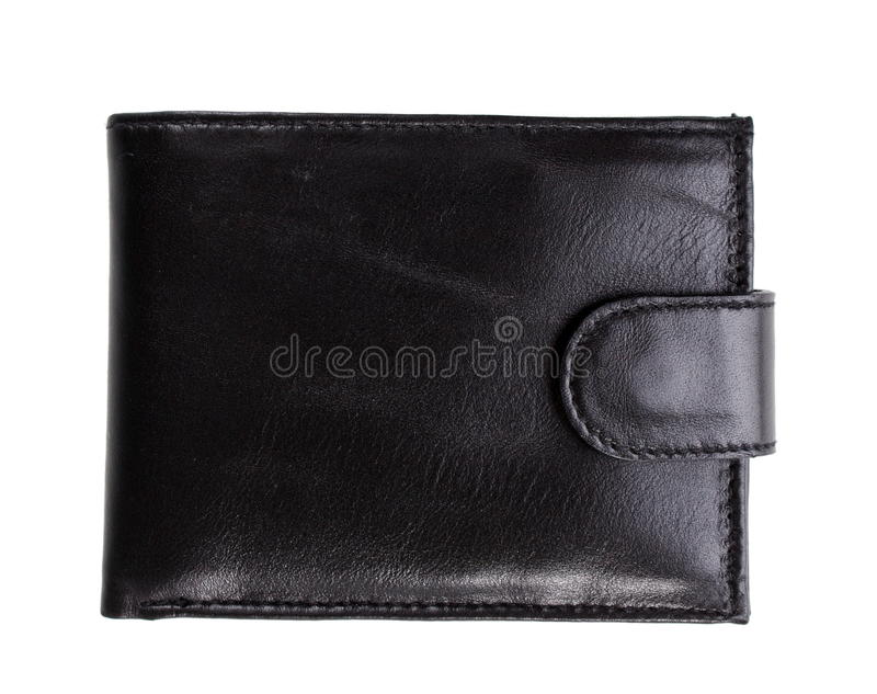 Leather wallet. On the white royalty free stock photo