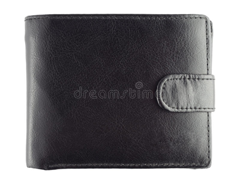 Leather wallet. Isolated on white background royalty free stock images