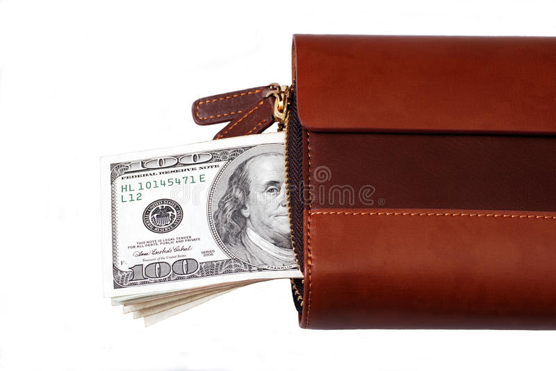 Download Leather Wallet With Dollars Stock Image - Image: 15799603