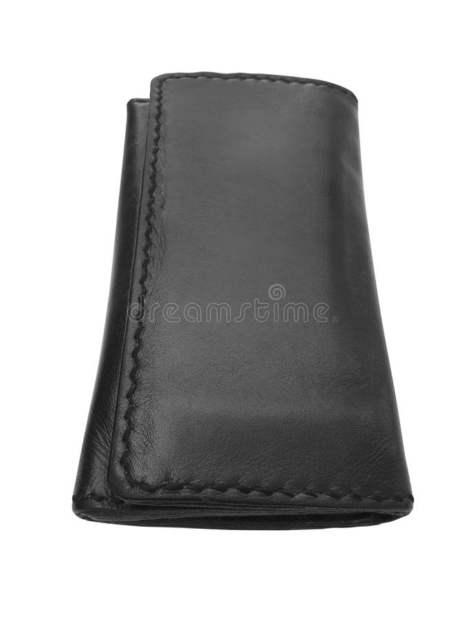 Leather wallet isolated on white background. For design In the media stock images