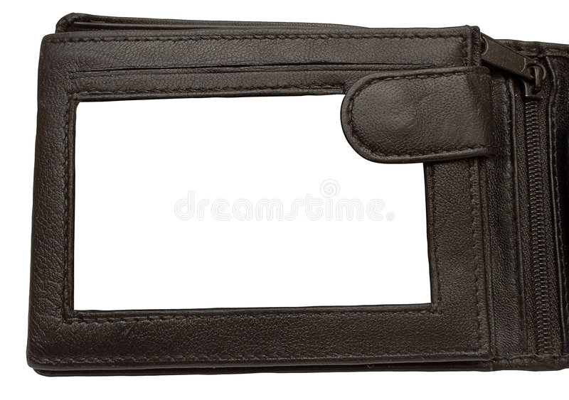 Download Leather Wallet Picture Frame W/ Path Stock Photo - Image of leather, children: 472210