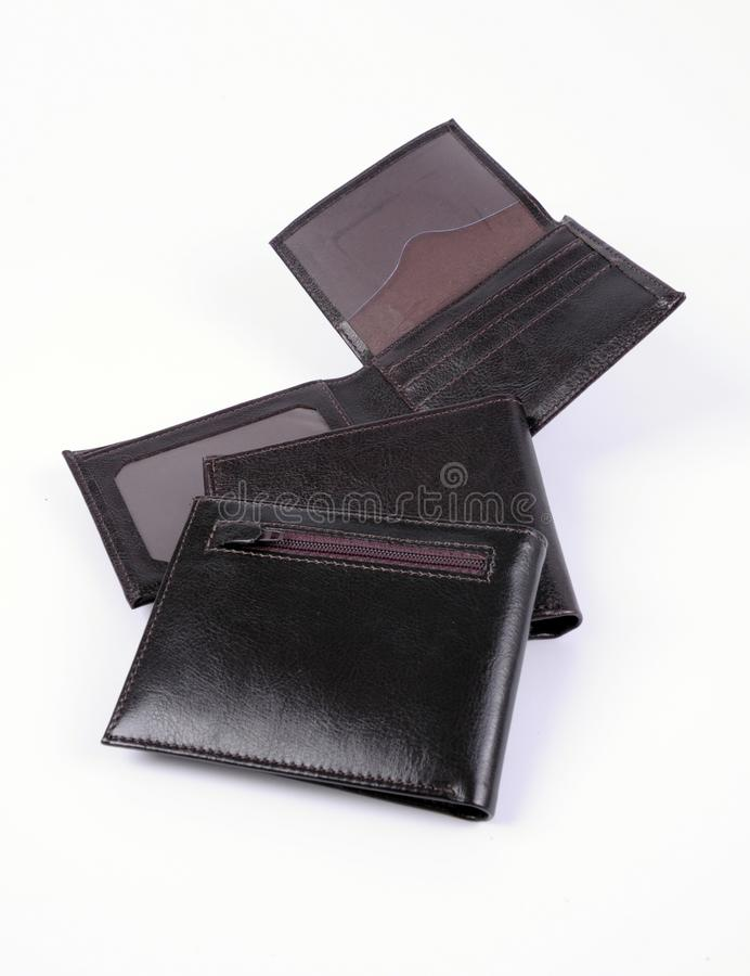 Leather wallet isolated stock image