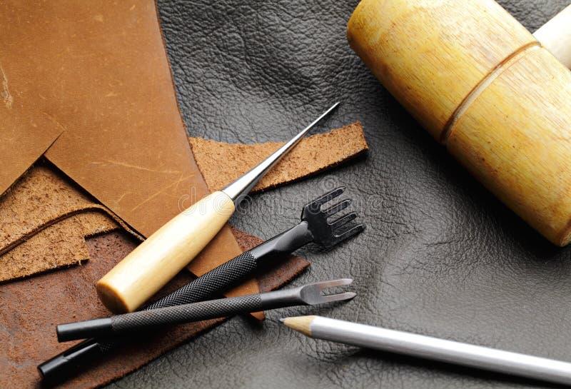 Leathercraftmateriaal stock afbeeldingen