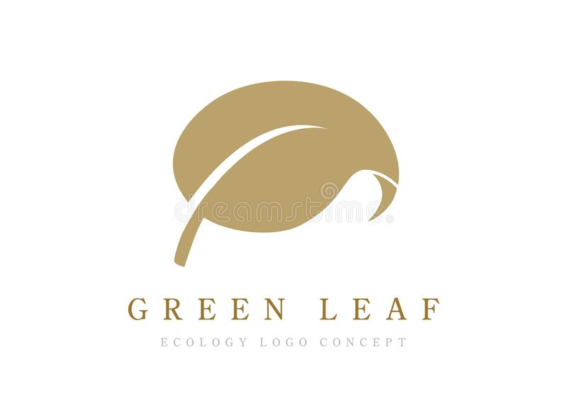 Leave icon or logo vector isolated on black background. Green leave of trees and plants. Elements for eco and bio logos. Leave icon or logo vector isolated on royalty free illustration