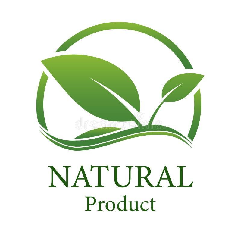 Leave natural design.logo natural product. Logo stock illustration