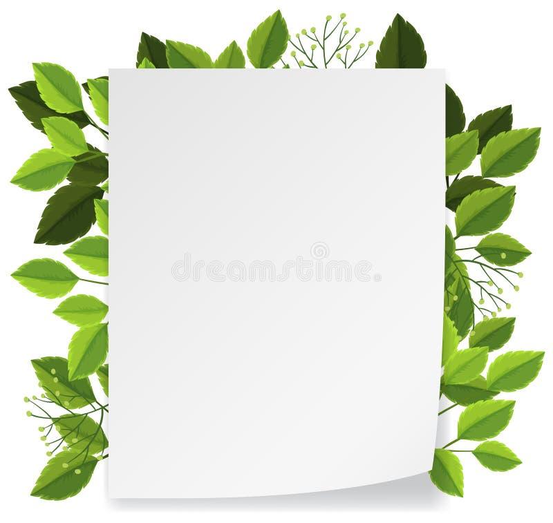Leave and nature frame concept. Illustration stock illustration