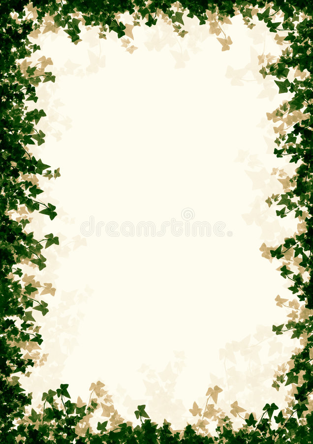 Leaved Frame royalty free stock image