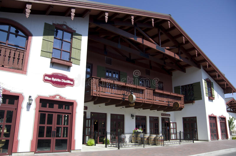 Leavenworth德国人镇 免版税库存图片