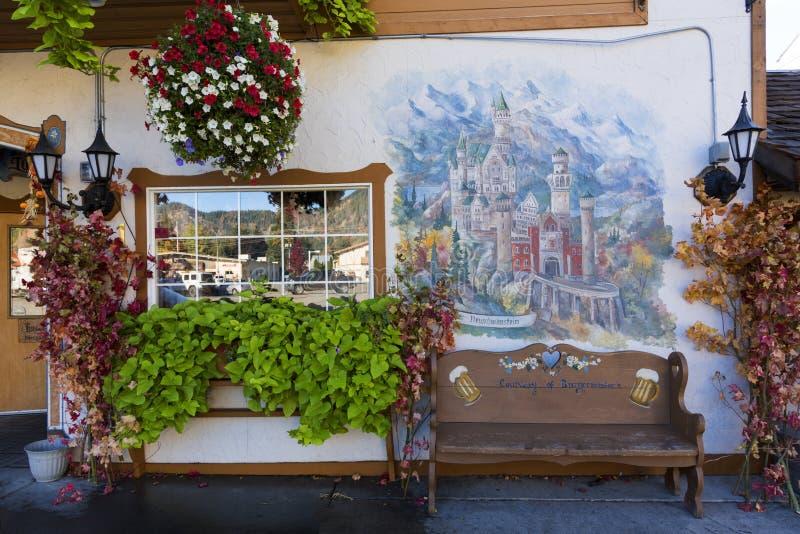 Leavenworth в осени стоковые фото
