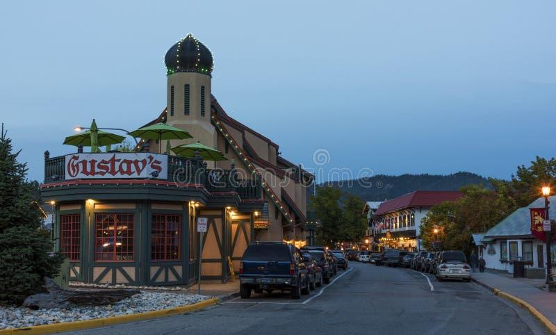 Leavenworth на зоре стоковые фото