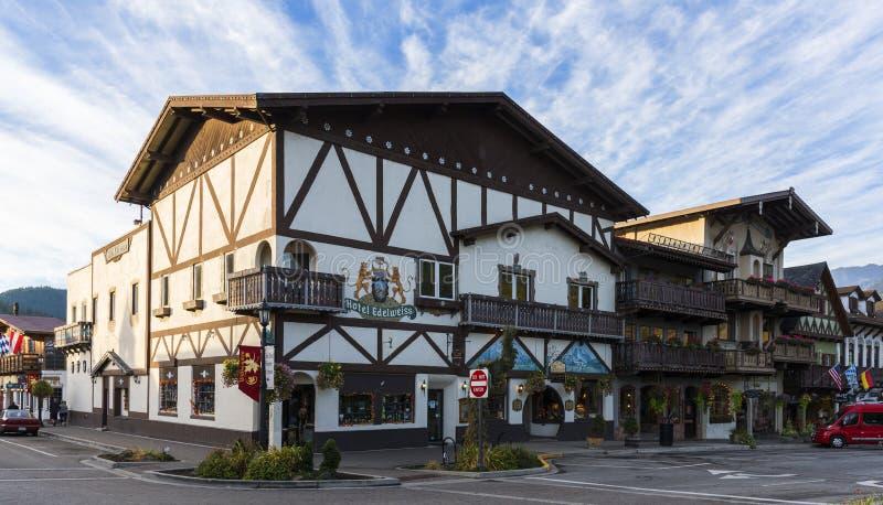 Leavenworth in autunno fotografia stock libera da diritti