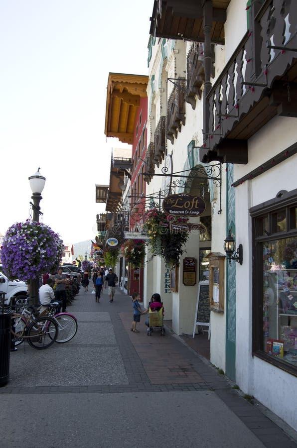 Leavenworth Duitse stad royalty-vrije stock fotografie