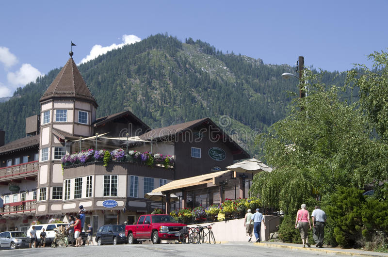 Leavenworth Duitse stad stock foto