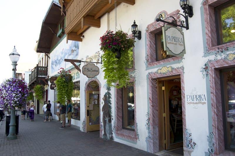 Leavenworth Duitse stad stock foto's