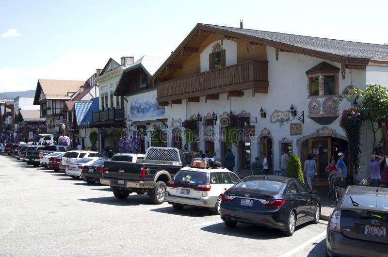 Leavenworth Duitse stad royalty-vrije stock foto's