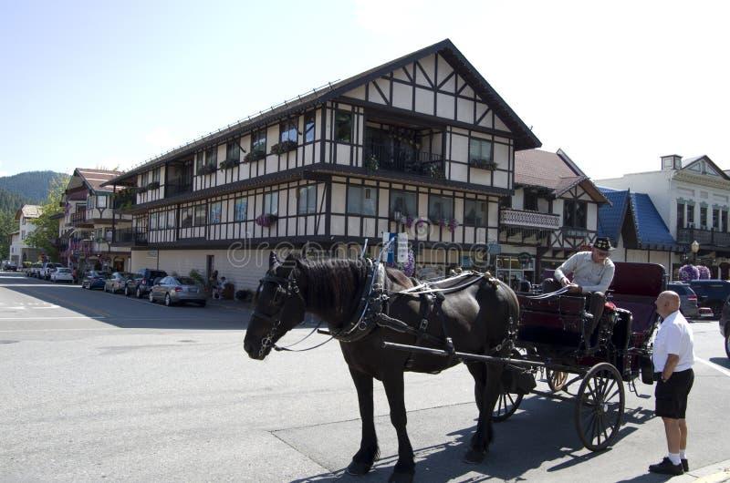 Leavenworth Duitse stad stock afbeeldingen