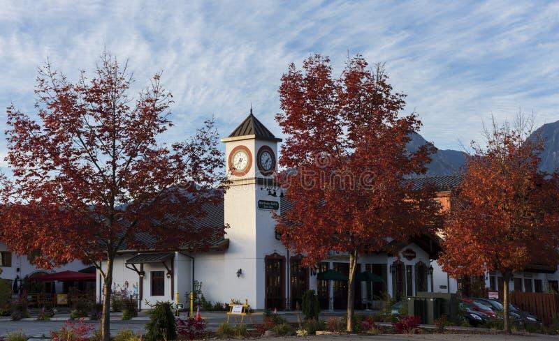 Leavenworth i höst fotografering för bildbyråer