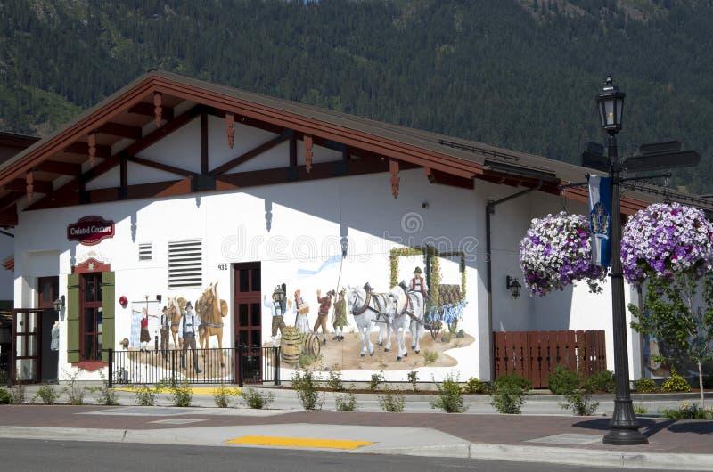 Leavenworth niemiec miasteczko fotografia stock