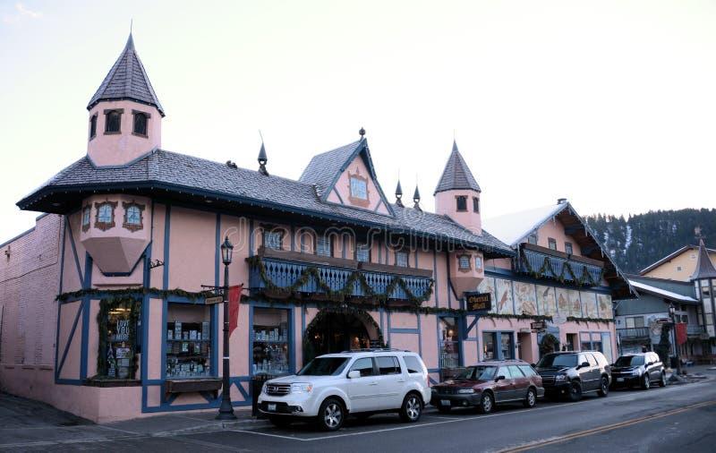 Leavenworth tyskbyggnader royaltyfri fotografi