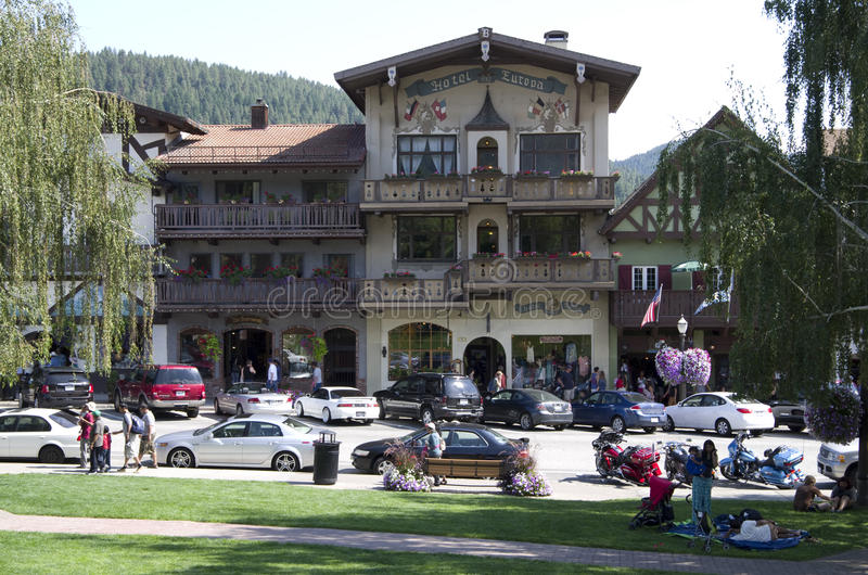 Leavenworth tyskstad royaltyfri bild
