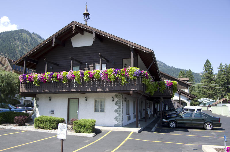 Leavenworth tyskstad royaltyfri fotografi